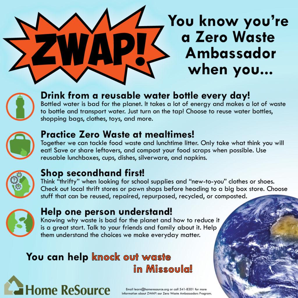 You know you're a Zero Waste Ambassador when you...