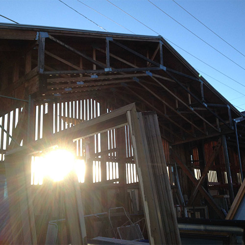Take a tour of Home ReSource - image of sunlight through building