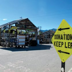 materials donation sign