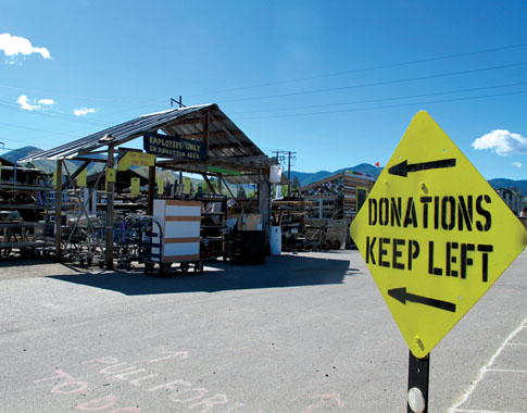 materials donation sign
