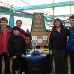 zero waste volunteers at earth day